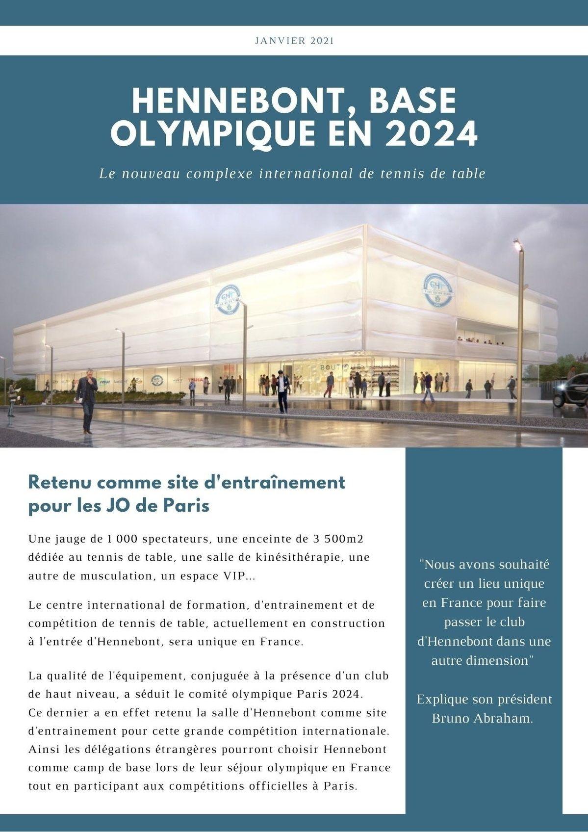 Hennebont, base olympique en 2024