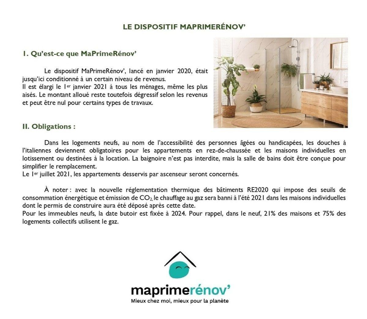 Le dispositif MaPrimeRénov'